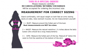 Dressprom Measurement Guide