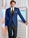 ultra slim prom tuxedo in cobalt blue by dimitra designs prom tuxedo shop