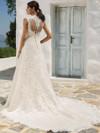 illusion lance back wedding gown justin alexander 8822