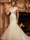Sweetheart Beaded Lace And Satin Bridal Gown Casablanca 2113