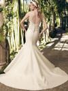 Casablanca 2175 Sheer Tank Straps Wedding Dress
