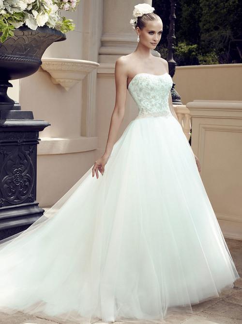 Casablanca 2188 Embroidered Bodice Wedding Dress