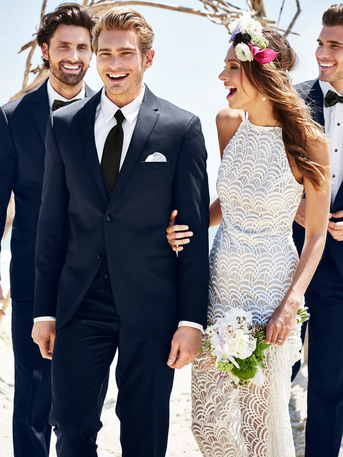 navy sterling tuxedo michael kors slim fit for rental at dimitra designs tux rental near me