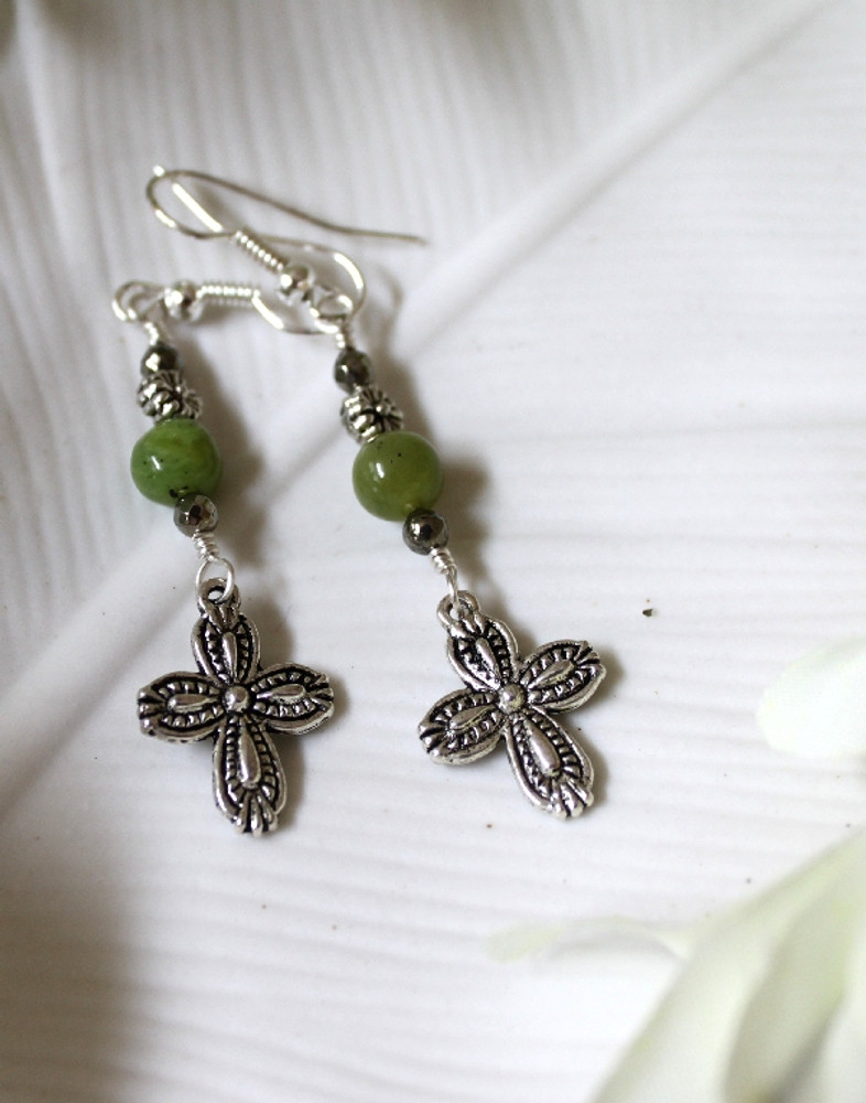 Cross Charm  Earrings