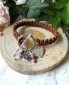 Macrame Leather & Charm Bracelet