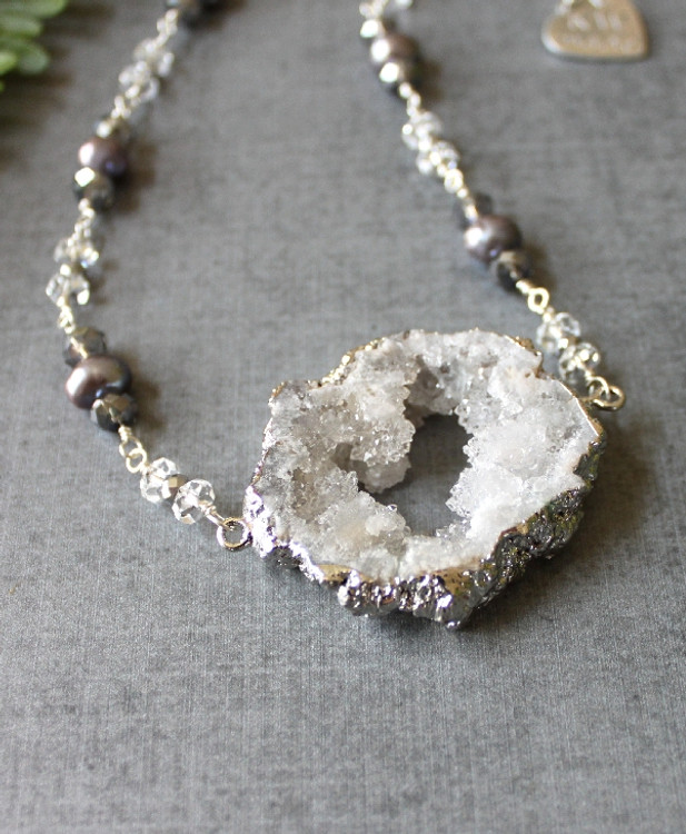 Druzy & Gemstones Necklace