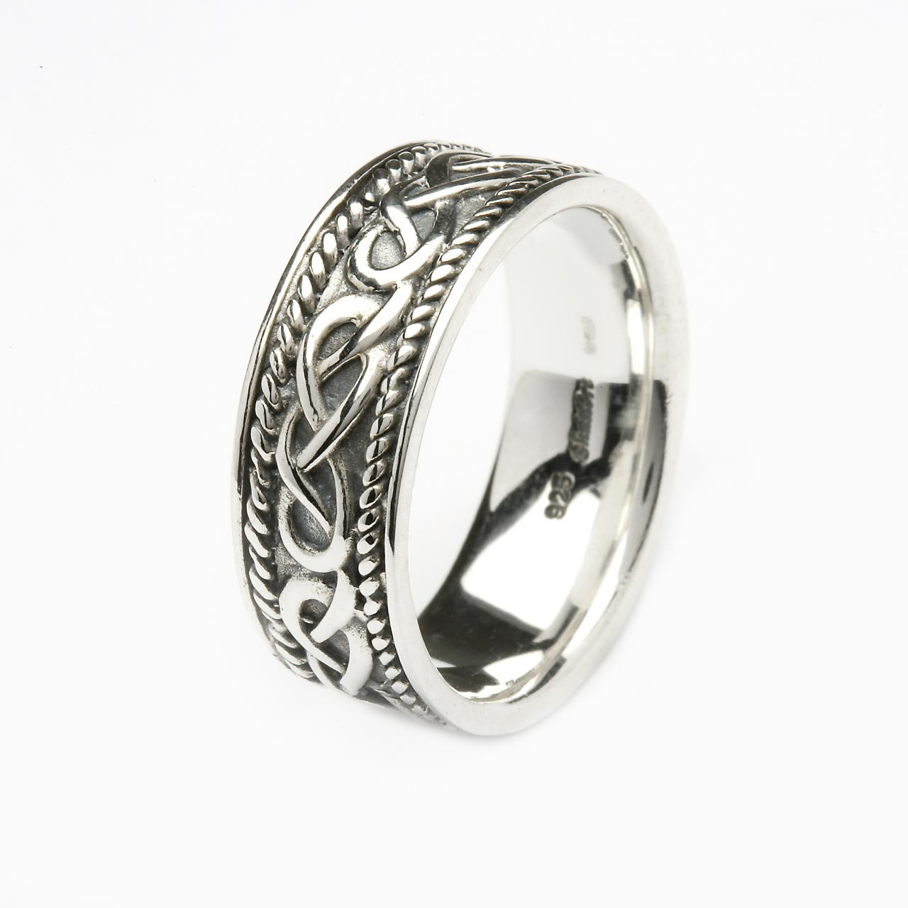Silver Gents Celtic Design Ring Irish Mens Jewelry
