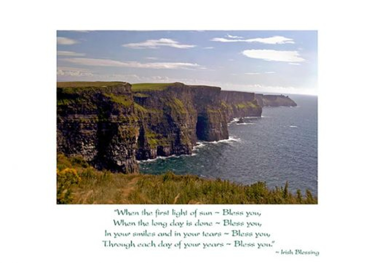 Irish Birthday Card Cliffs Of Moher Irish Gifts