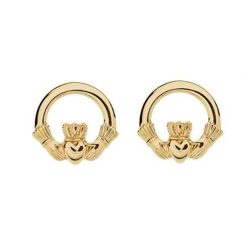 products isle gold grande crystal jewelry earrings claddagh emerald stud plated