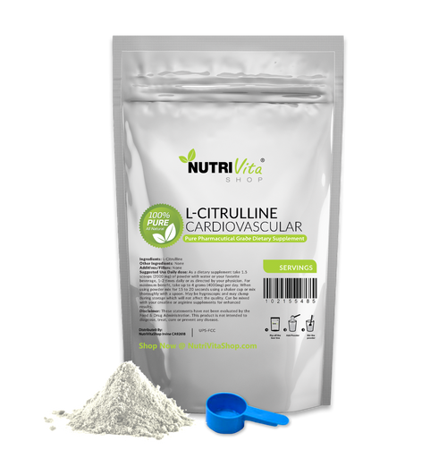 L-Citrulline 100% Pure Powder - Free Form Amino Acid Pharmaceutical Grade USP