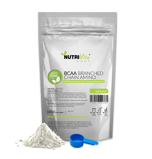 Instantized Branched Chain Amino Acids - 100% Pure BCAA Free Form Powder Pharmaceutical Pro Formulated