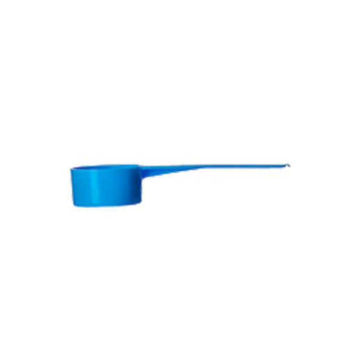 "5cc Blue Short Handle Scoop (1 Teaspoon) 3"" Long"