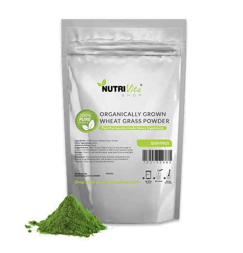 Wheat Grass Powder USDA Certified Organic - Superfood 100% Pure