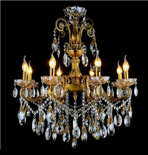 Antique Candle Chandeliers Champagne Crystal Chandelier: Traditional Candle Crystal Chandelier CC47701