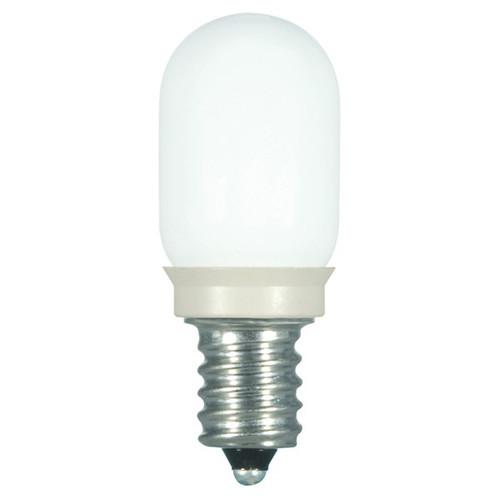 0.8 WATT T6 LED LAMP FROST 27K CANDELABRA BASE (EQUAL TO 10W) - SATCO #S9176