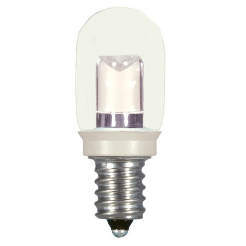 0.8 WATT T6 LED LAMP CLEAR 27K CANDELABRA BASE (EQUAL TO 10W) - SATCO #S9177
