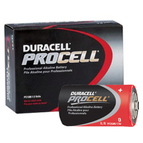 12 PACK - DURACELL PROCELL D CELL BATTERY