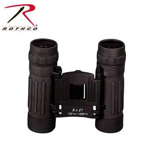 Rothco's Compact 8 x 21MM Binoculars feature a rubberized armored roof prism with case.