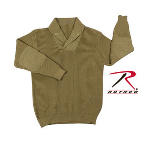 Rothco's WWII Vintage Mechanics Sweater Features The Styles Of A Vintage World War II Mechanics Sweater With Twill Elbow Patches and Button Placket With Added Button Details; Ribbed Cuffs, Collar And Waist. The Vintage Sweater Is 100% Knit Cotton and Washable.