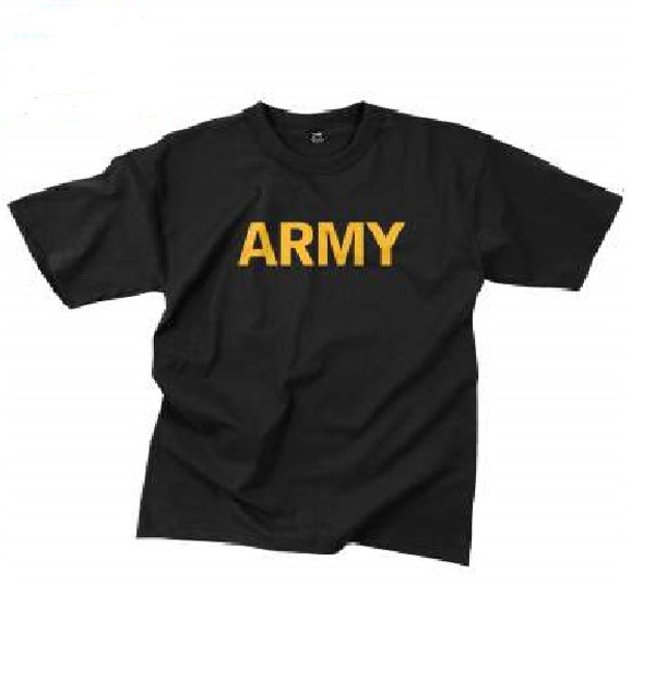 US Army Gold and Black T-Shirts