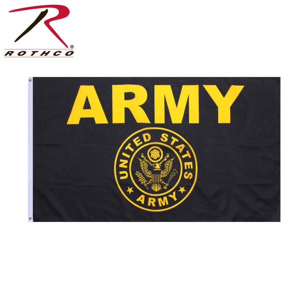 Black and Gold Army Flag