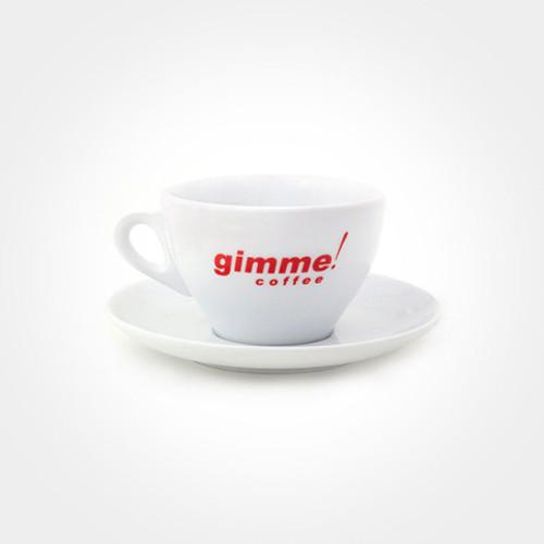 Porcelain 12oz Latte Cup & Saucer