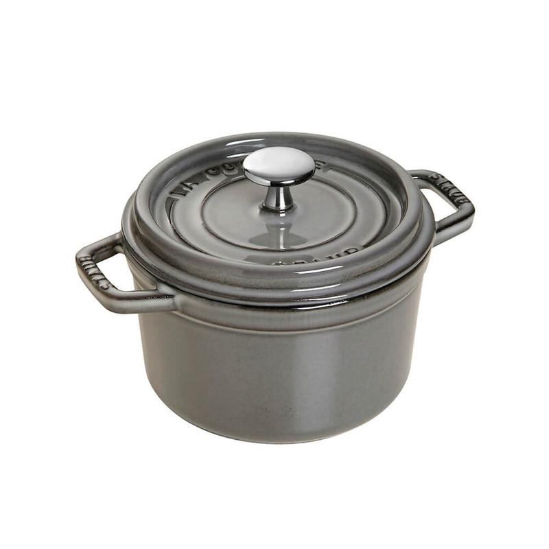 Staub 0.75-Quart Cast Iron Round Cocotte in Graphite Grey