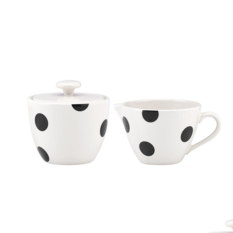 Kate Spade Deco Dot Sugar and Creamer Set