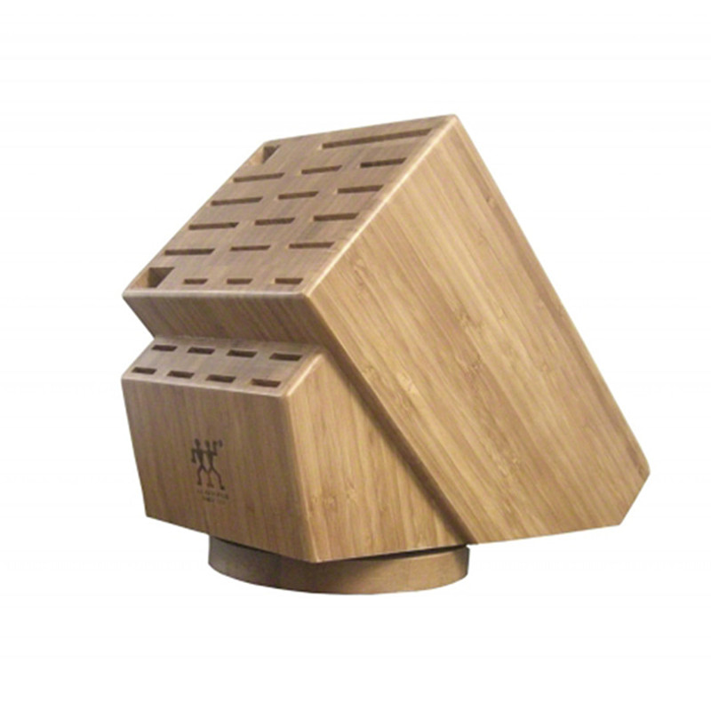 Zwilling J.A. Henckels 26-Slot Bamboo Swivel Knife Block