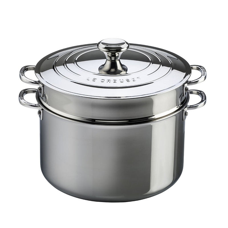 Le Creuset Stainless Steel Stockpot With Colander Insert