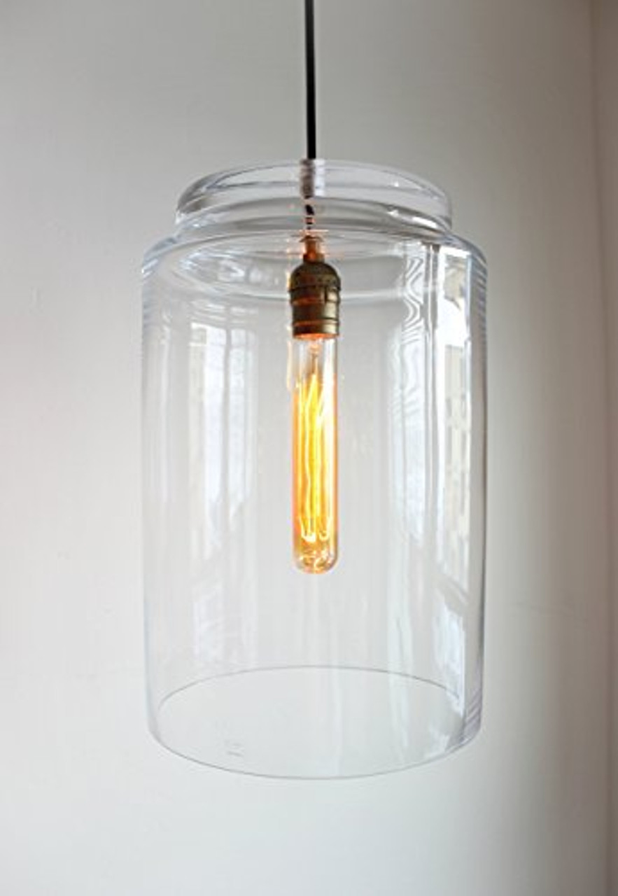 Large Glass Pendant Industrial Lighting