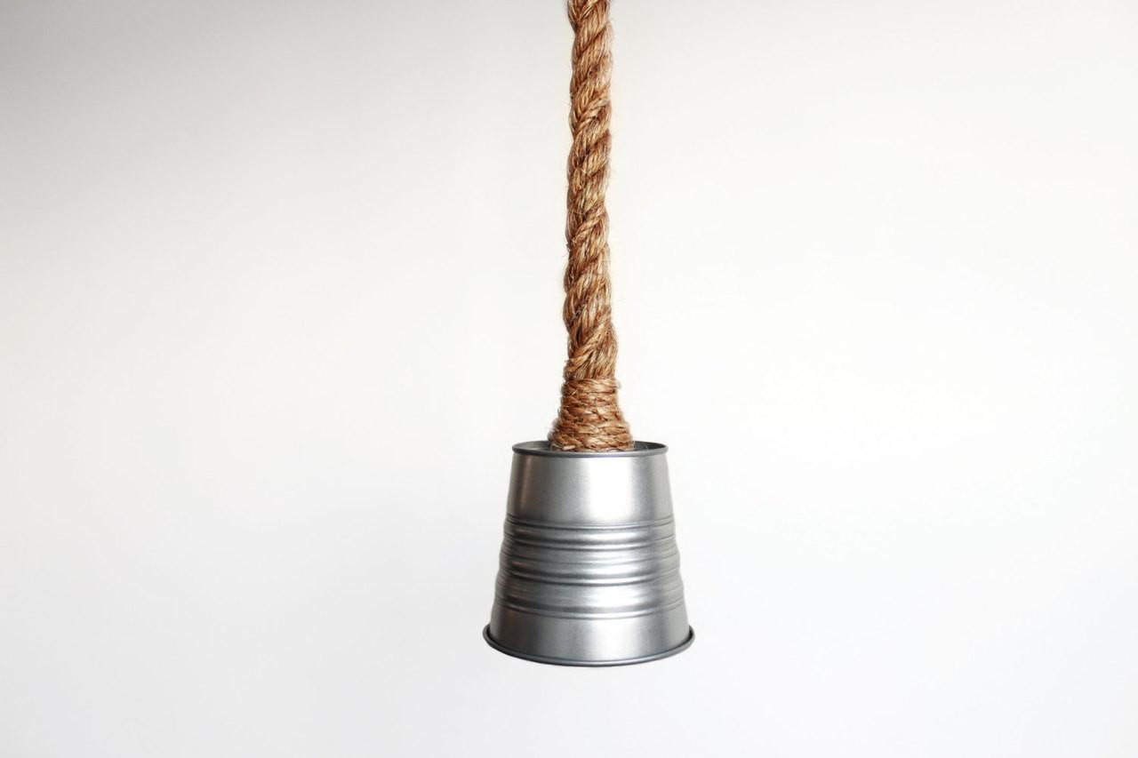 Rustic Rope & small bucket Industrial Farmhouse Kitchen Island Bar ...