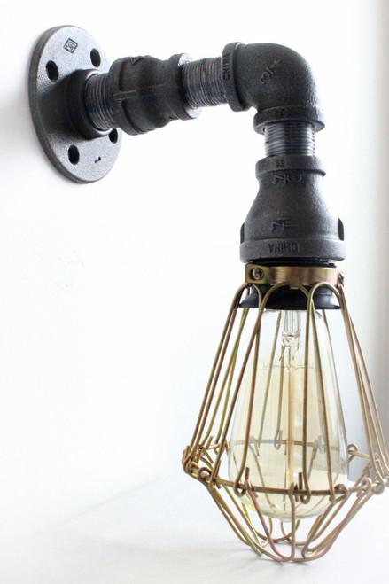 Industrial Lighting Wall Sconce globe light - Steampunk Bathroom ...