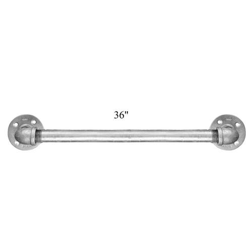 Galvanized pipe ada bathroom grab bar set of 3 handrail industrial pipe handicap grab bar for Commercial bathroom grab bars