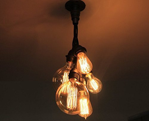 Cluster bulb pendant chandelier industrial pipe lighting hanging cluster bulb pendant chandelier industrial pipe lighting hanging pendent lights for over kitchen island or aloadofball Gallery