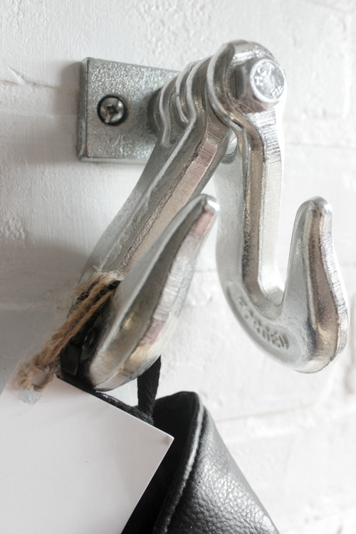 Double Galvanized Pipe Hook Rustic Industrial Farmhouse