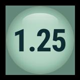 1.25 inch round