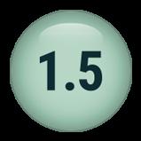 1.5 inch round