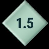 1.5 inch diamond