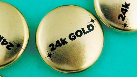 24k Gold Buttons