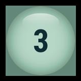 3 inch round