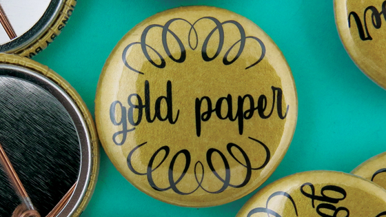 Gold Paper Buttons