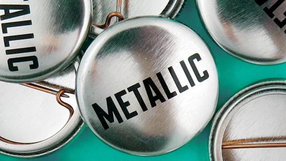 Metallic Finish Buttons