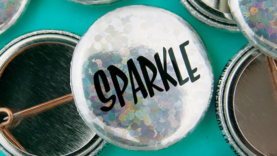Sparkle Finish Buttons