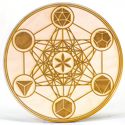 Metatron Cube Grid Template