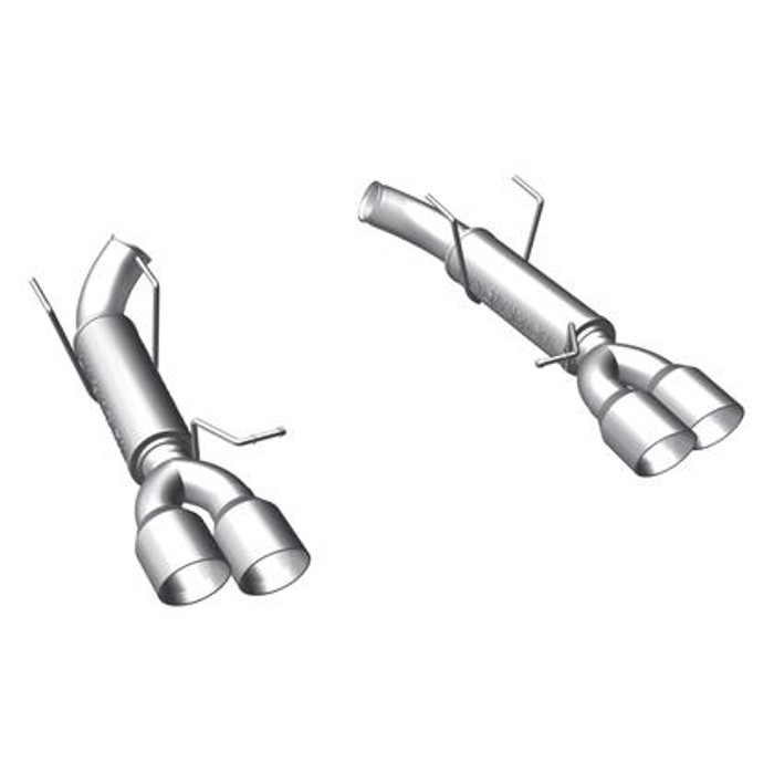MagnaFlow 11-14 Ford Mustang V8 5.0L Dual Split Rear Exit Axle-Back Stainless Cat Back Perf Exhaust