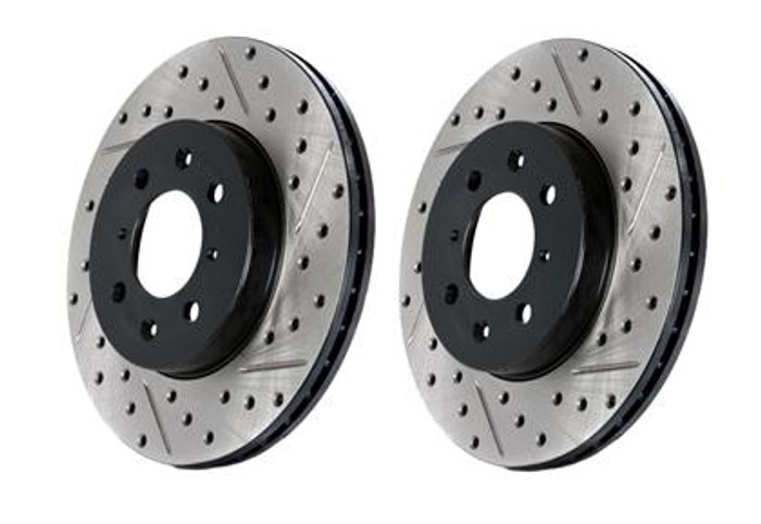 Stop Tech 05-10 Ford Mustang Slotted & Drilled Right Rear Rotor