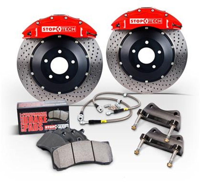 Stoptech 94-04 Ford Mustang Front BBK Yellow ST-40 355x32mm Slotted Rotors