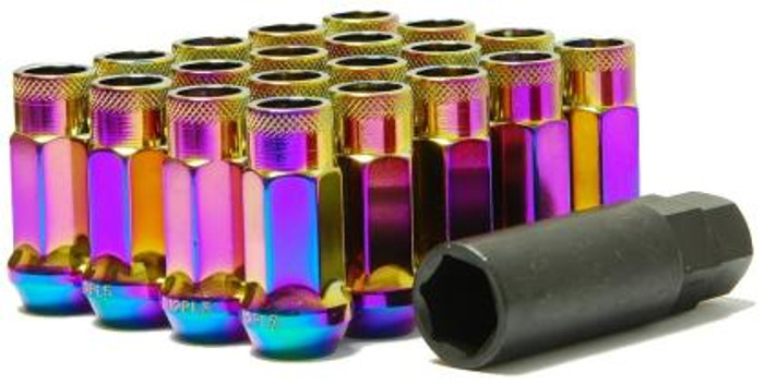 Wheel Mate Muteki SR48 Open End Lug Nuts - Neon 12x1.25 48mm