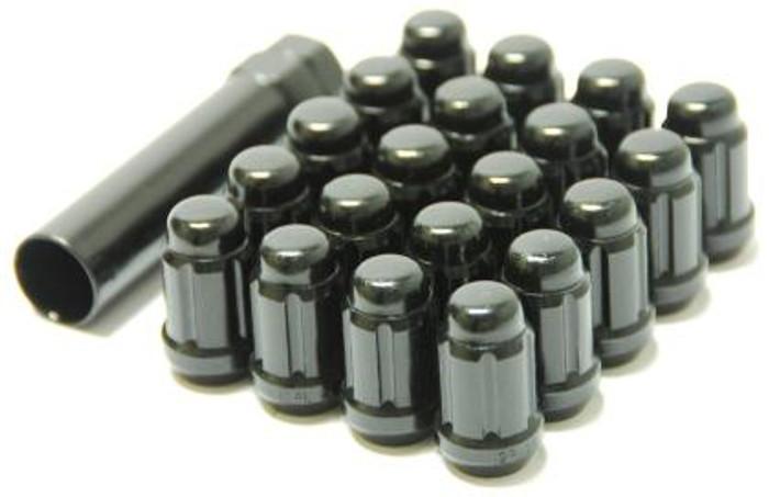 Wheel Mate Muteki Closed End Lug Nuts - Deep Black 12x1.25